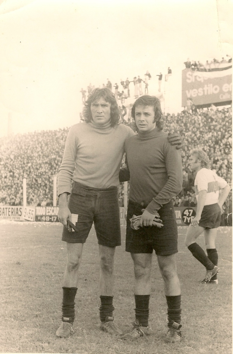 Foto Antonio Piovoso con Hugo Gatti